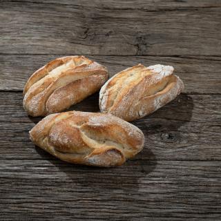 Baguettebrötchen halbgebacken