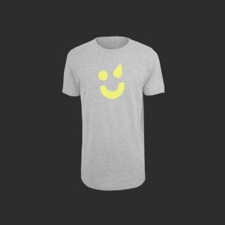 T-Shirt grau - Smiley gelb L