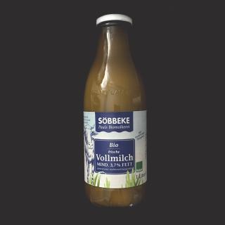 Wiesenmilch 3,7% (Bioland, Flasche)