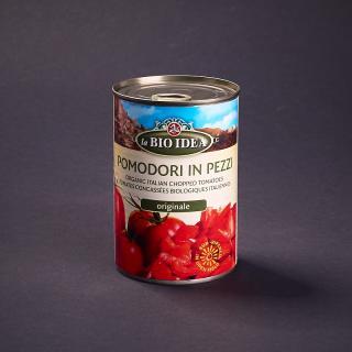 Tomatenstücke in der Dose