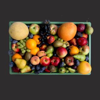 Obst Biokiste riesig